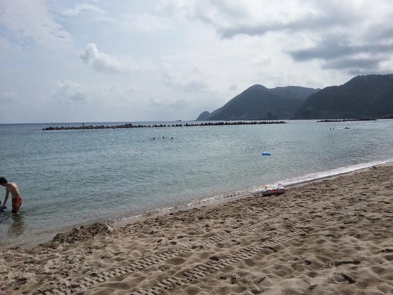 竹野浜海水浴場、兵庫の綺麗と評判の海水浴場に家族と行ってみました